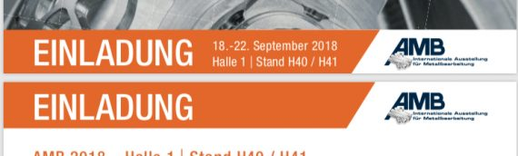AMB 2018 – Halle 1 | Stand H40/H41